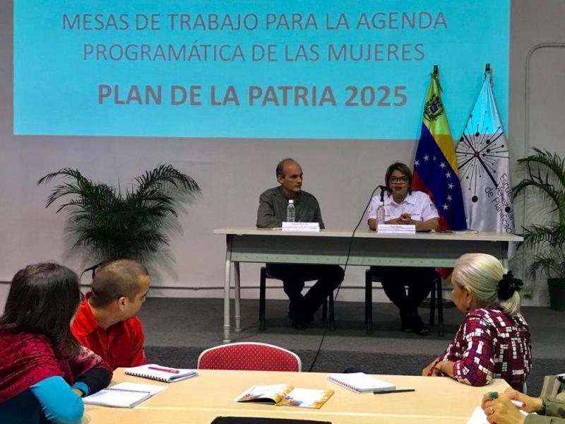 ELABORADA AGENDA PROGRAMÁTICA DE LAS MUJERES PARA EL PLAN DE LA PATRIA 2019-2025 EN LA FUNDACIÓN ESCUELA VENEZOLANA DE PLANIFICACIÓN