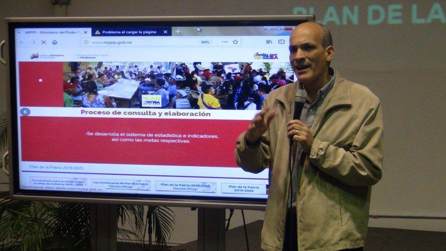 Rueda de Prensa del Vicepresidente de Planificación Ricardo Menéndez para presentar las líneas estratégicas de acción del Plan de la Patria 2019 – 2025 desde la FEVP